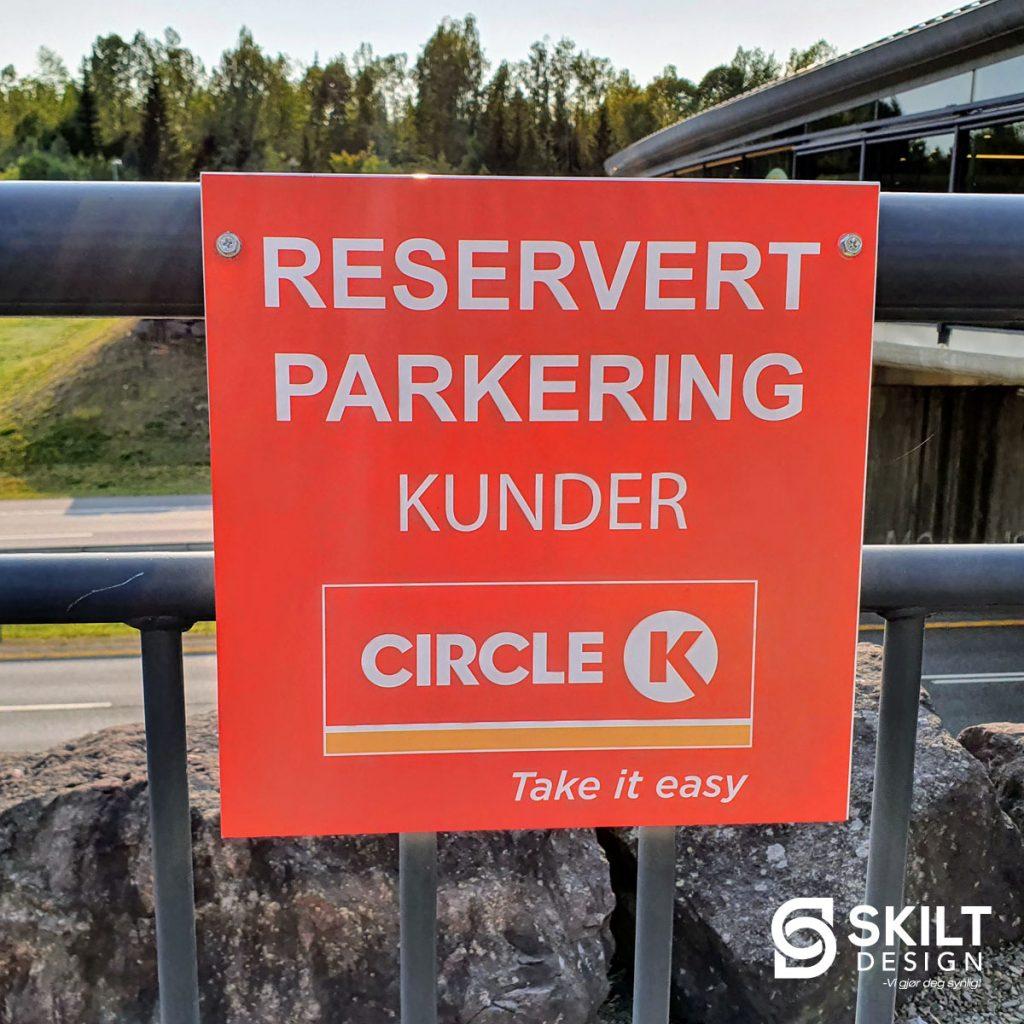 Plateskilt Circle K IG